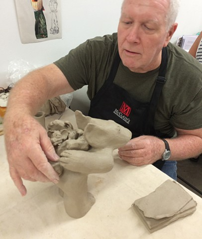 Gary working on sculpture