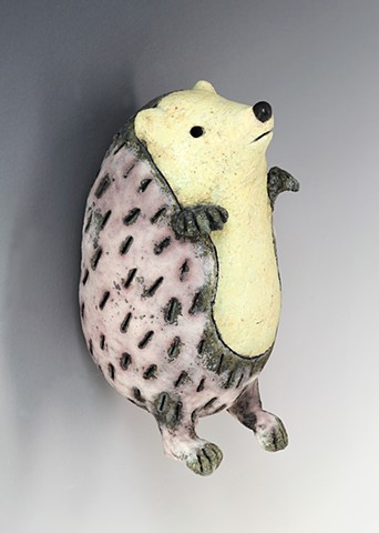 ceramic figure hedgehog pottery by Sara Swink
