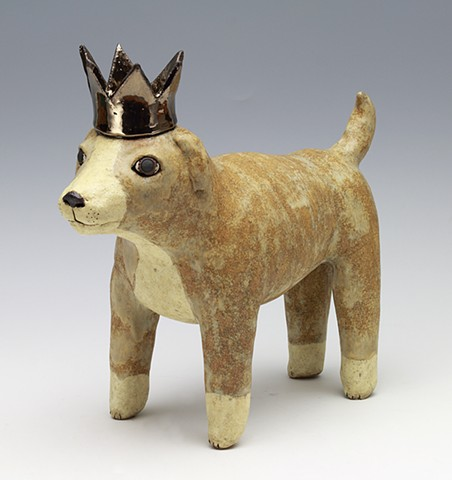 sara Swink dog crown rex pottery ceramics