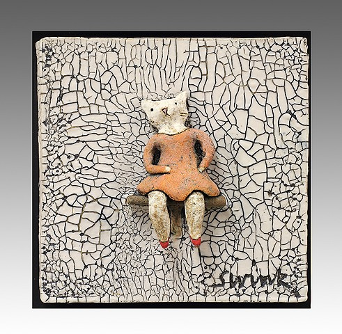 ceramic figure animal bear by Sara Swink Big 400