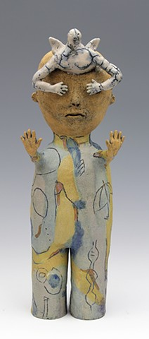 ceramic figure angel by Sara Swink