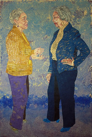 Conversation portrait of Thelma Andrews and Barbara Lawrence.