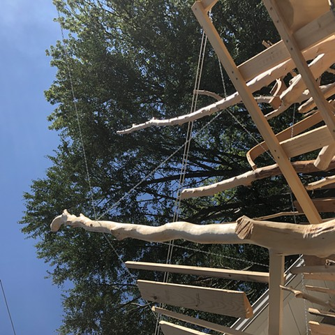 heather brammeier artwork treehouse installation found materials interactive