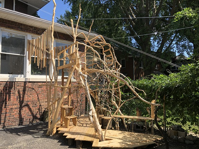 heather brammeier treehouse installation artwork