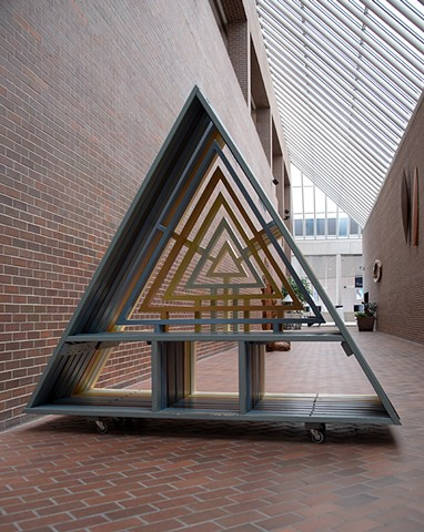 heather brammeier triangle bench south bend museum of art interactive art
