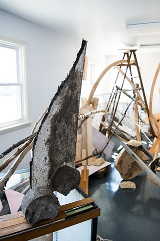 heather brammeier jessica bingham collaboration art installation reclaimed materials