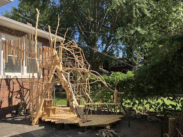 heather brammeier artwork treehouse installation