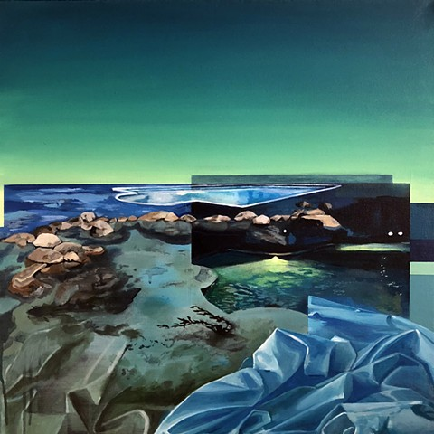 pool, water, ocean, swim, sunrise, sunset, contemporary landscape, new contemporary art, painting, blue, comfort, vacation, serene, night, car, lagoon, design, interior design, Denver, green, California, west coast, Monterrey Bay, Monterrey Bay Aquarium,
