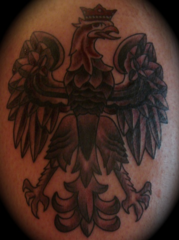 Polish eagle grey gray work tattoo Providence Rhode Island RI