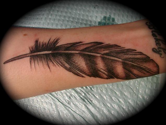 feather grey gray work bird feather tattoo Providence Rhode Island RI