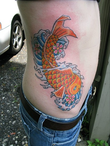 Koi Side Tattoo steven williamson tattoo artist providence rhode island (ri) tattoo Rhode Island Providence