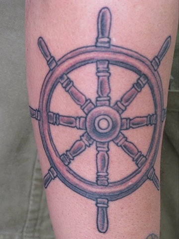 ship wheel tattoo steven williamson tattoo artist providence rhode island (ri) tattoo Rhode Island Providence