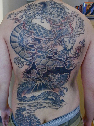 Dragon Backpiece steven williamson tattoo artist providence rhode island (ri) tattoo Rhode Island Providence