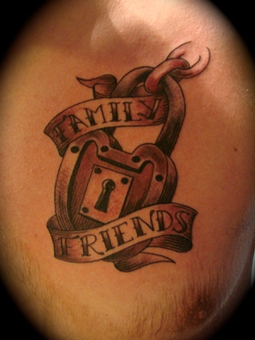 old style lock tattoo black and gray grey work friends family  Providence Rhode Island RI