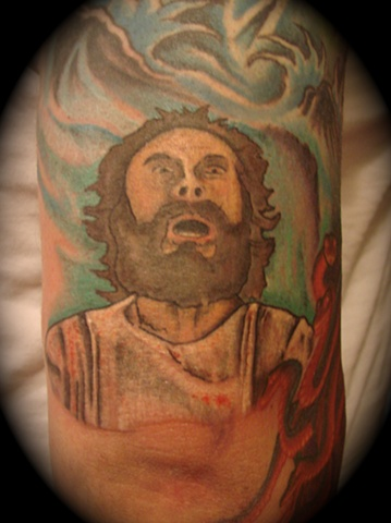 clash of the titans poseidon portrait tattoo Providence Rhode Island RI