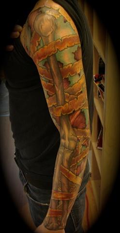 zombie mummy skeletal work arm re-work cover up tattoo  Providence Rhode Island RI