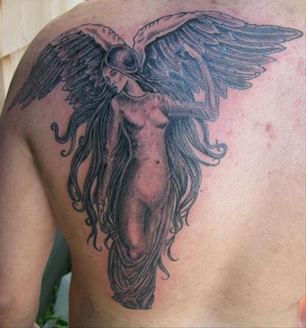 Angel winged woman steven williamson tattoo artist providence rhode island (ri) tattoo Rhode Island Providence