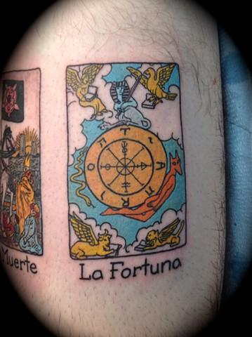 Providence, Prov, RI, Rhode Island, New England, Mass, Art Freek Tattoo, Good Tattoos grey work black and gray Color old school portrait clean tarot fortune fortuna