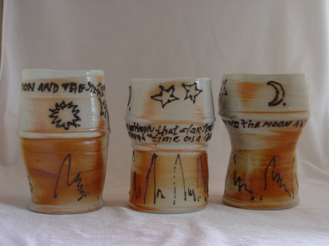 Sun and the moon and the stars above Drinking Cups