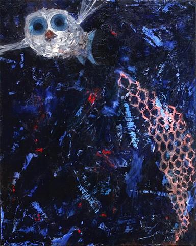 painting of deep sea creature, spook fish