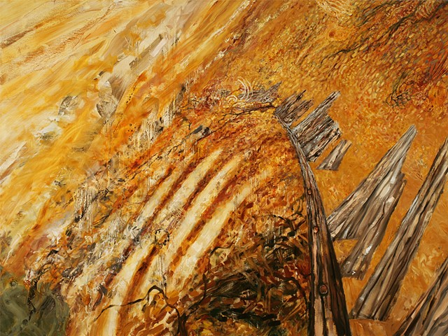 painting of skeleton coast, whale bones,shipwrecks