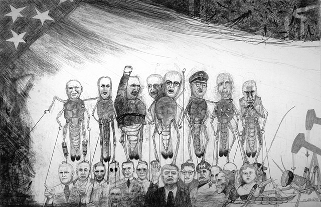 political satire, protest against tyranny and environmental destruction and greed