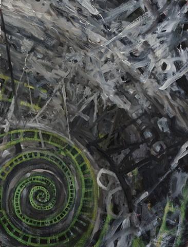 Untitled (green spiral)