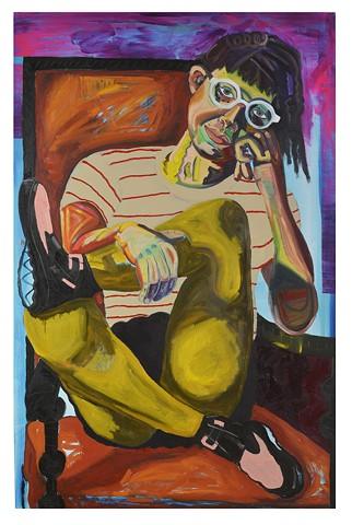 "Student Work 11 Class:Senior Project in Painting 64"" x 48""  Oil on Canvas"