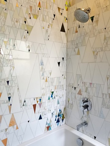 Triangle Mosaic Shower