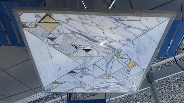 Marble Triangle Table