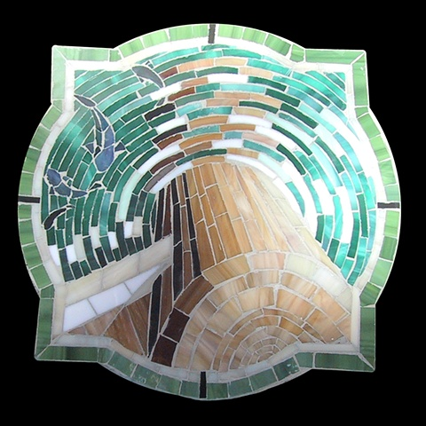 """Pier"" mosaic panel courtyard inlay, by Kate Jessup"