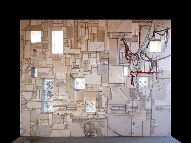 Fine Mess Mosaic wall installation in Truth or Consequences, New Mexico by Kate Jessup