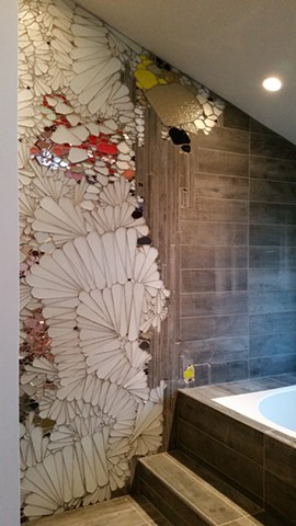 Custom mosaic shower