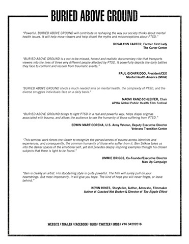Buried Above Ground - Press Notes Sample Page 2