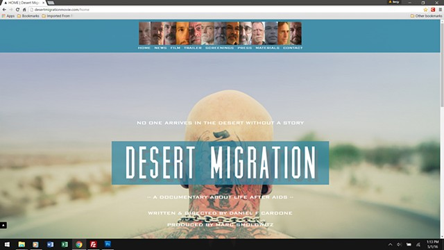 Desert Migration - homepage