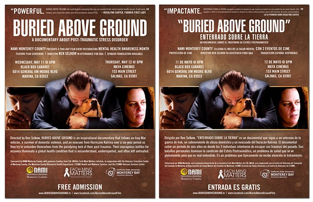 Buried Above Ground - English and Spanish double-sided 8.5x11