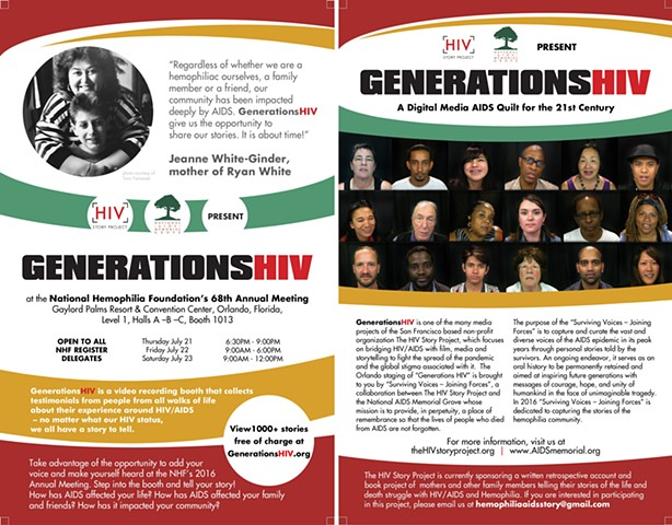 Generations HIV - National Hemophilia Foundation's 68th Annual Meeting Event Flyer - 9x6