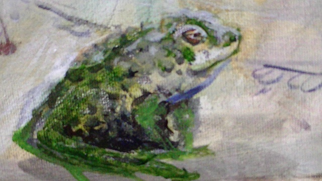 Self Portrait as Circe Frog Detail