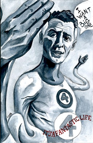 Mr. Fantastic / It's a Wonderful Life - Christmas Sketch Cover