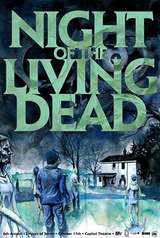 """Night of the Living Dead"" Print"
