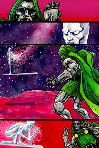 """Silver Surfer vs. DOOM"" Print"