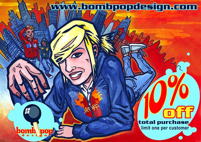 Bombpop Design coupon front