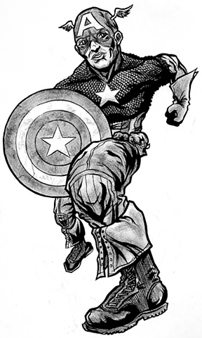 Captain America Cut Out