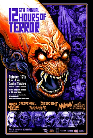 Cleveland Cinemas 12 Hours of Terror Pumpkinhead art CHOD