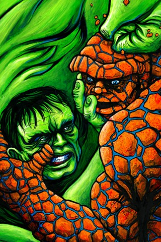 """Hulk vs. Thing"" Print"