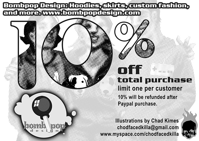Bombpop Design coupon back