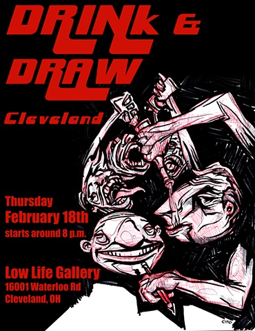 Drink & Draw flier