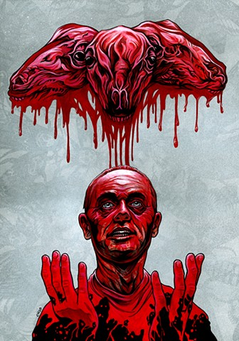Silence of the Lambs, Chod, Hannibal, alternative movie poster, metroorageart