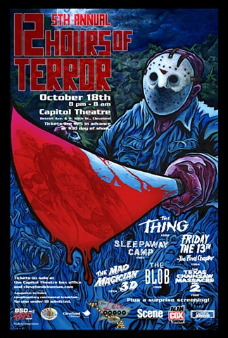 Cleveland Cinemas 12 Hours of Terror Jason Friday the 13th art CHOD