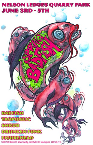 Badfish Nelson Ledges poster art CHOD
